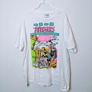 5/$25🌹Marvel Avengers Neon Print Graphic Tee